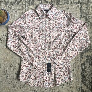 NWT Brooks Brothers Women's Floral Ruffle Top 2